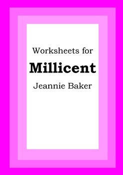 Worksheets for MILLICENT - Jeannie Baker - Picture Book -