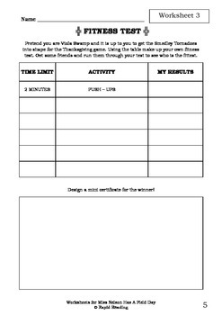 Worksheets for MISS NELSON HAS A FIELD DAY - Harry Allard & James Marshall