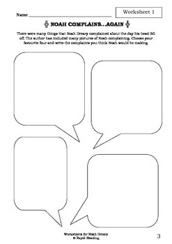 Worksheets for NOAH DREARY - Aaron Blabey - Picture Book - Literacy