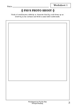 Worksheets for PIG THE STAR - Aaron Blabey - Picture Book - Literacy