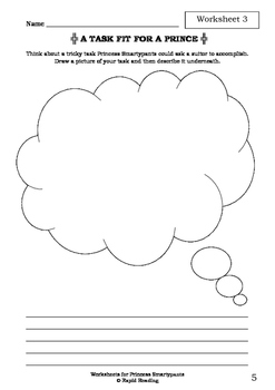 Worksheets for PRINCESS SMARTYPANTS - Babette Cole - Picture Book - Literacy