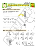 Worksheets for Personal Pronouns video + Song