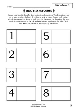 Worksheets for REX - Ursula Dubosarsky - Picture Book Literacy