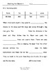 Worksheets for SHUTTING THE CHOOKS IN by Libby Gleeson & Ann James - Vocab