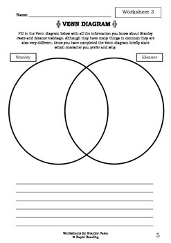 Worksheets for STANLEY PASTE - Aaron Blabey - Picture Book - Literacy