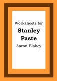 Worksheets for STANLEY PASTE - Aaron Blabey - Picture Book