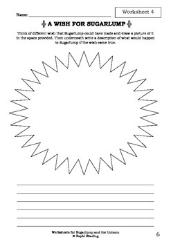 Worksheets for SUGARLUMP AND THE UNICORN - Julia Donaldson - Picture Book