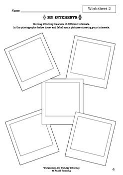 Worksheets for SUNDAY CHUTNEY - Aaron Blabey - Picture Book - Literacy