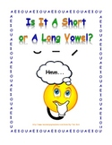 Worksheets for Short & Long Vowel Practice