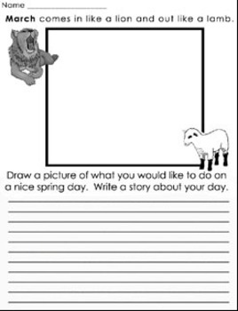 Worksheets for Spring - 6 different pages