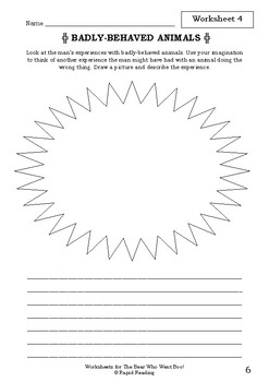 Worksheets for THE BEAR WHO WENT BOO! - David Walliams - Picture Book