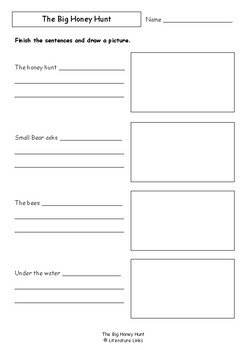 Worksheets for THE BIG HONEY HUNT by Stanley and Janice Berenstain - Vocab
