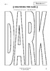 Worksheets for THE DARK - Lemony Snicket - Picture Book - Literacy