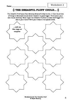 Worksheets for THE DREADFUL FLUFF - Aaron Blabey - Picture Book - Literacy