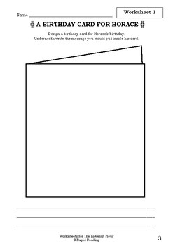 Worksheets for THE ELEVENTH HOUR - Graeme Base - Picture Book - Literacy