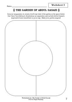 Worksheets for THE GARDEN OF ABDUL GASAZI - Chris Van Allsburg - Picture Book