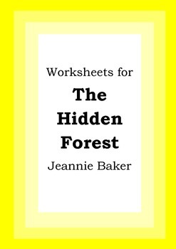 Worksheets for THE HIDDEN FOREST - Jeannie Baker - Picture