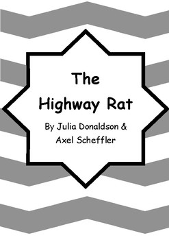 Worksheets for THE HIGHWAY RAT by Julia Donaldson & Axel Scheffler - Vocab