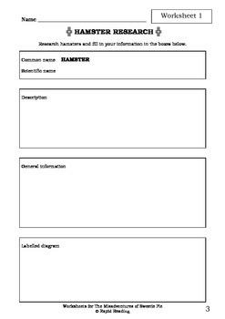 Worksheets for THE MISADVENTURES OF SWEETIE PIE Chris Van Allsburg Picture Book