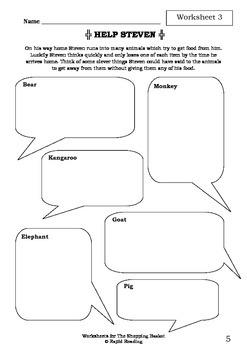 Worksheets for THE SHOPPING BASKET - John Burningham - Picture Book - Literacy