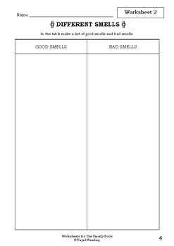 Worksheets for THE SMELLY BOOK - Babette Cole - Picture Book Literacy