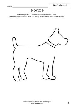 """Worksheets for """"THE TROUBLE WITH DOGS!"""" - Bob Graham - Picture Book - Literacy"""