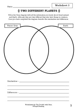 Worksheets for THE TROUBLE WITH GRAN - Babette Cole - Picture Book Literacy