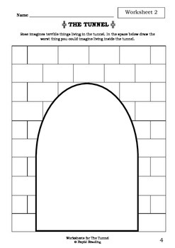 Worksheets for THE TUNNEL - Anthony Browne - Picture Book - Literacy