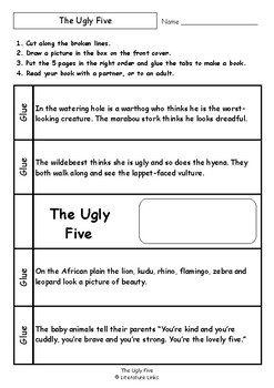 Worksheets for THE UGLY FIVE by Julia Donaldson & Axel Scheffler - Comprehension