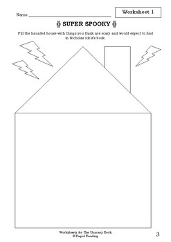 Worksheets for THE UNSCARY BOOK - Nick Bland - Picture Book Literacy