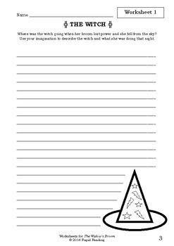 Worksheets for THE WIDOW'S BROOM - Chris Van Allsburg - Picture Book - Literacy