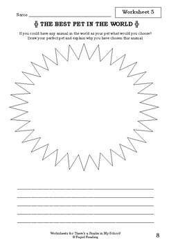 Worksheets for THERE'S A SNAKE IN MY SCHOOL! - David Walliams - Picture Book