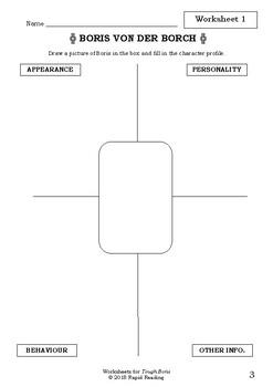 Worksheets for TOUGH BORIS - Mem Fox - Picture Book Literacy