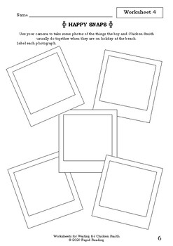 Worksheets for WAITING FOR CHICKEN SMITH - David Mackintosh - Picture Book