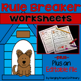 Word Work - Worksheets for Rule Breaker Words