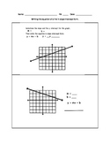 Worksheets for Writing Equations in Slope Intercept Form