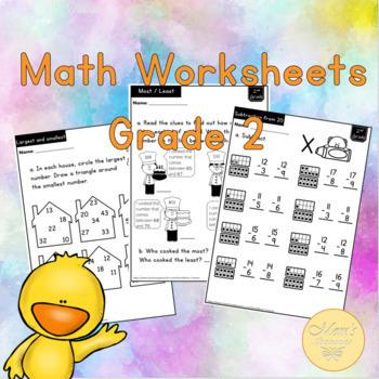MATH Worksheets for grade 2