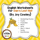 """Worksheets for use with """"Dan's Lost Hat"""" Book"""
