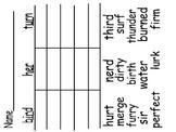 Worksheets for words with ar, er, ir, and ur vowel patterns