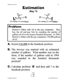 Estimation, Rounding, Place Value Practice - Common Core Aligned - 3rd - 5th