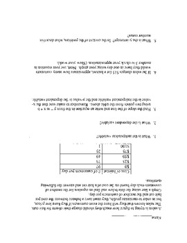 Worksheets on writing and graphing linear equations