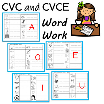 CVC and Sneaky E (Silent e) Word Work by Buzz Worthy Ideas | TpT