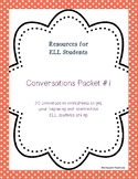 Conversation/Supplemental Worksheets Packet #1 for Beg/Int ELL Students