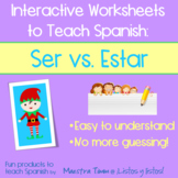 Worksheets to Teach Spanish:  Ser vs. Estar