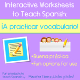 Worksheets to Teach Spanish:  Vocab Practice