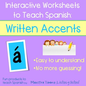 Worksheets to Teach Spanish:  Written Accents