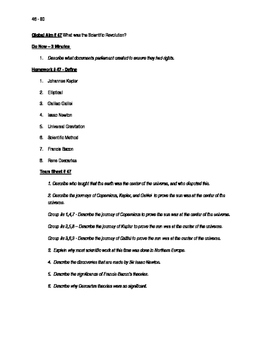 Worksheets to accompany Global History Aims 46 - 60