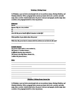 Workshop 1 (Survivors) Writing Prompt