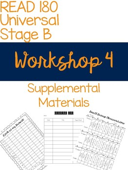 Workshop 4 Supplemental Materials