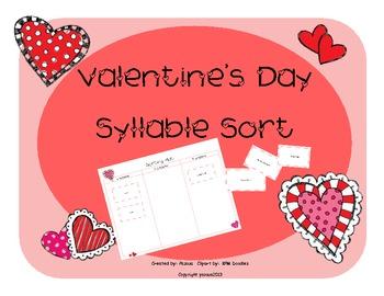 Workshop Center-Valentine's Day Syllable Sort